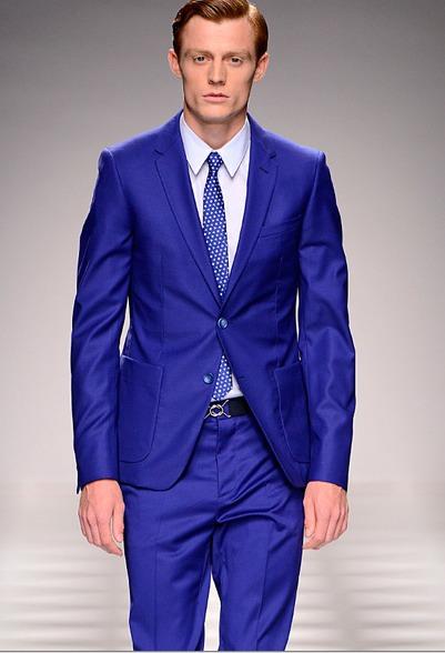 Vestito Matrimonio Uomo Blu Elettrico : Vestito elegante blu elettrico uomo moda e design italiani
