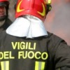 Incendio al Centro dell' Aquila    traffico interdetto nella zona della Villa comunale