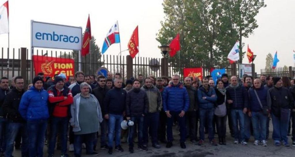 Torino, domani lavoratori Embraco in sciopero e in corteo