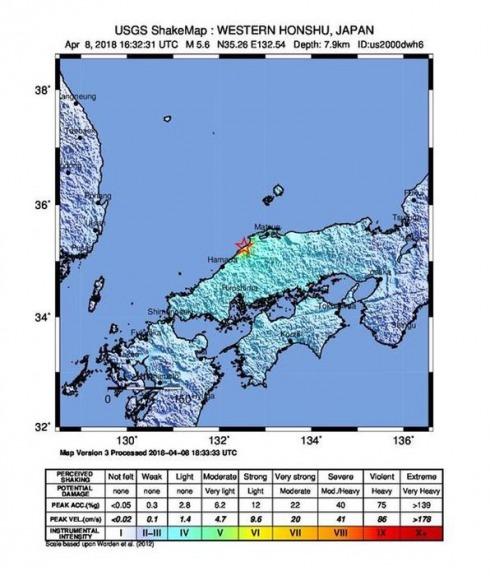 Terremoto di magnitudo 6.1 colpisce il Giappone: 5 feriti