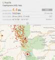 Forte scossa di terremoto vicino L'Aquila La terra trema due volte