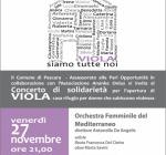 """Giornata contro la violenza sulle donne, a Pescara il concerto """"Viola siamo tutte noi"""""""