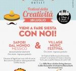 """Village music Festival e degustazione """"Sapori dal mondo-Messico"""" il 28 al Città Sant'Angelo Village"""