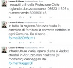 """""""In Abruzzo Infrastrutture Intatte"""", il Presidente D'alfonso Comunica su Facebook"""
