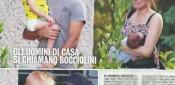 Laura Chiatti e Marco Bocci con Pablo ed Enea l'Uscita è Tenerissima