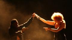 Fiorella Mannoia sul palco a L'Aquila - foto Anna Rita Jodice