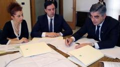 la firma dell'atto di convenzione