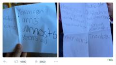 La lettera arrivata a Obama tramite Twitter