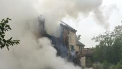 Schianto aereo su villa a Plainville - foto da Twitter