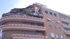 Crollo edificio sul Lungotevere Flaminio a Roma