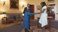 Virginia McLaurin Con Presidente Obama e first lady Michelle