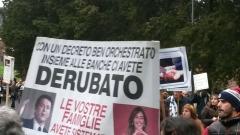 """Protesta Delle Vittime Del """"Salvabanche"""""""