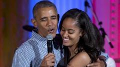 Barack Obama E La Figlia Malia