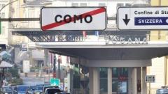 Il confine tra Italia e Svizzera a Ponte Chiasso