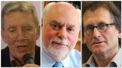 Jean-Pierre Sauvage, J. Fraser Stoddart e Bernard L. Feringa