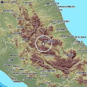 Magnitudo 2.4 epicentro nell'aquilano