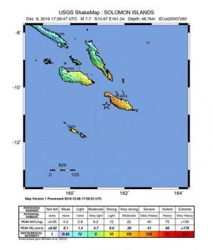 Terremoto magnitudo 7.8 alle Isole Salomone, allarme tsunami fino alle Hawaii