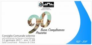 Nascita città di Pescara, domani Consiglio Comunale solenne per i suoi 90 anni