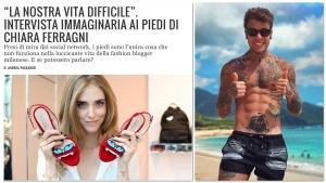 """#Piedi di #ChiaraFerragni Nel Mirino, #Fedez Sbotta: """"A Quando L'Intervista A Sto c....?"""" #Giornalai"""