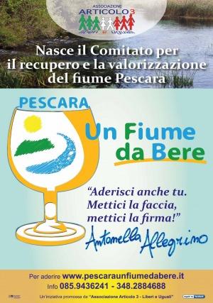 """""""Pescara un fiume da bere"""" l'iniziativa per la salute del corso d'acqua promossa da Articolo 3"""