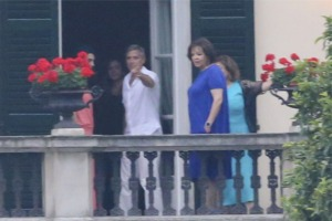 George Clooney and Amal in Laglio (with her mother)  141183