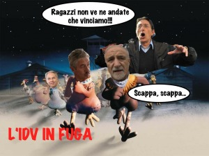L'IDV in fuga, al cinema... no all'Aquila!!!