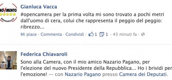 Vacca e Chiavaroli su facebook