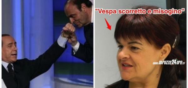 Stefania Pezzopane, Bruno Vespa