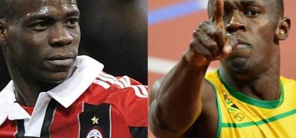 Mario Balotelli e Usain Bolt