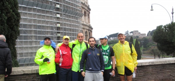 Alcuni Runners teatini alla Maratona di Roma