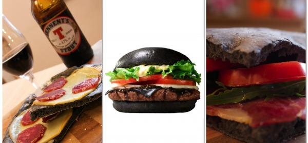 Carbone Vegetale, Hamburger nero, pizza nera