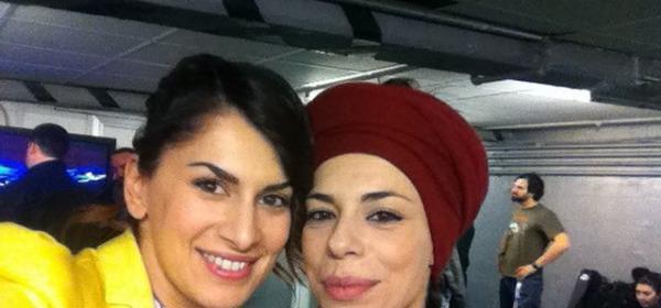 Annalisa Andreoli con Amara a Sanremo 2015