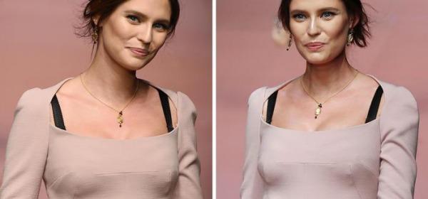 Bianca Balti sfila con il pancione per Dolce e Gabbana