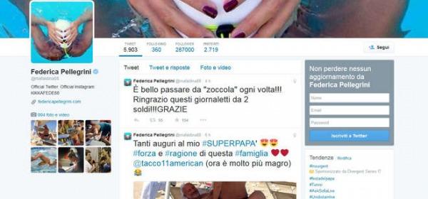 Il post di Federica Pellegrini (Twitter)