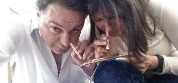 Andrea Diprè e Sara Tommasi, foto da facebook
