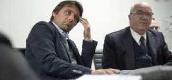 Carlo Tavecchio e Antonio Conte da twitter