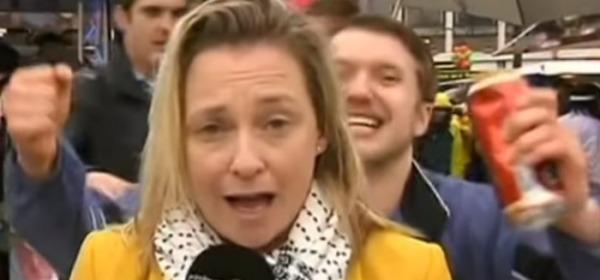 frame del video delle molestie alla giornalista