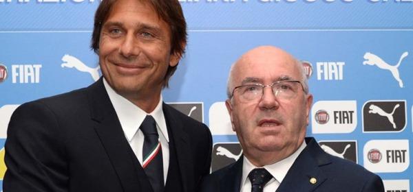 Antonio Conte e Carlo Tavecchio - foto da twitter