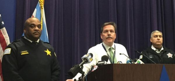 La polizia di Chicago in conferenza stampa