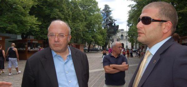 Luigi D'Eramo (a destra) con Francesco Storace