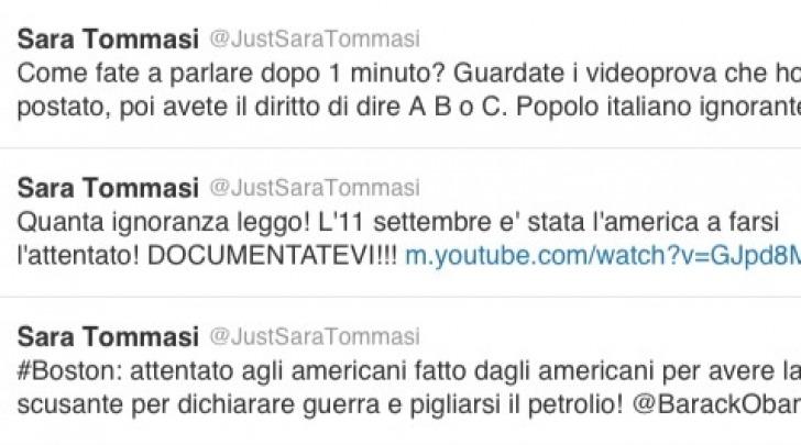 Sara Tommasi twitter