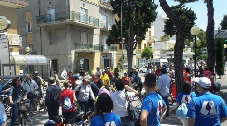 Foto della 3^ edizione della biciclettata adriatica