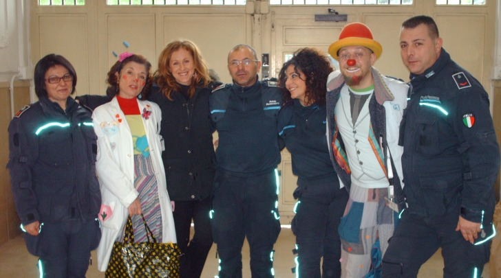 Clown al carcere di Chieti