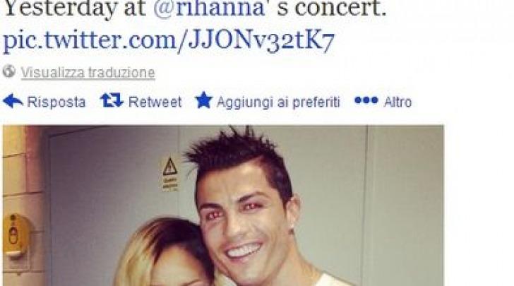 Cristiano Ronaldo e Rihanna