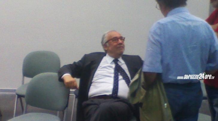 Ottaviano Del Turco nell'aula del Tribunale di Pescara