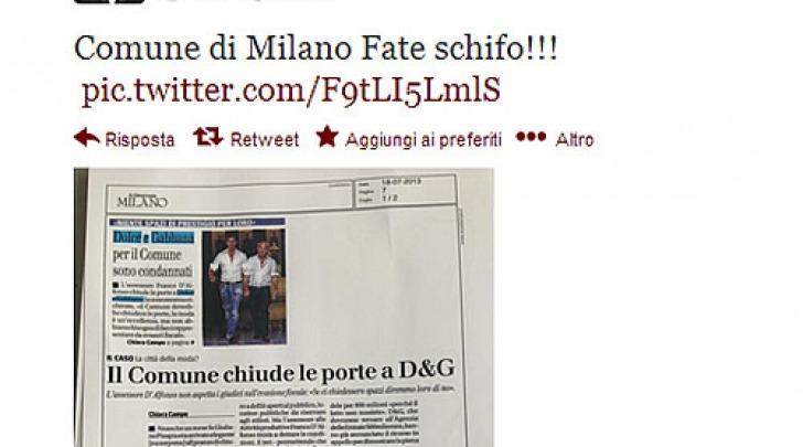 Stefano Gabbana tweet