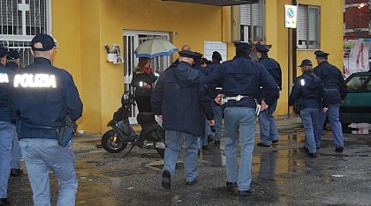 blitz della polizia a Rancitelli