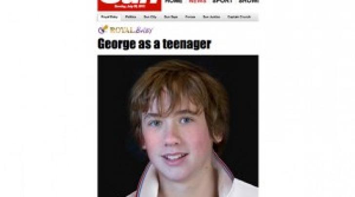 Il viso di George così come potrebbe essere a 14 anni
