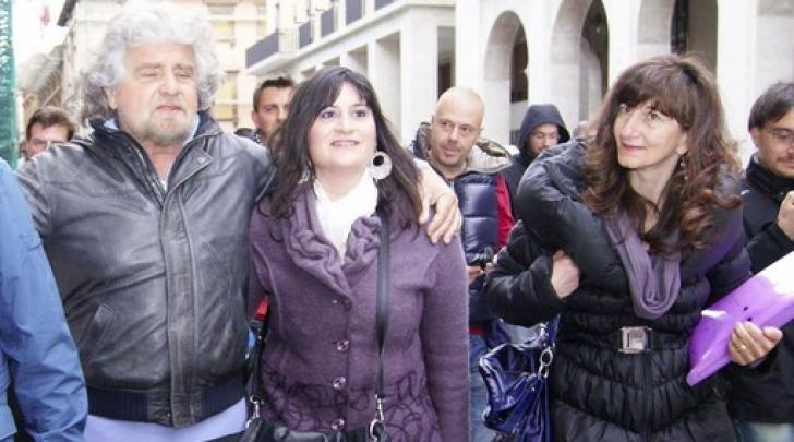Beppe Grillo, Samanta Di Persio ed Enza Blundo