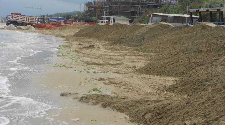 Il tratto di mare tra Pescara e Francavilla